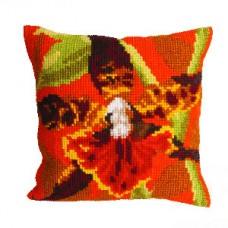 """Набор для вышивания Collection D'Art 5001. Подушка """"Orchidée Tigre"""""""