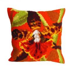 """Набор для вышивания Collection D'Art 5001 Подушка """"Orchidée Tigre"""""""
