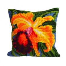 """Набор для вышивания Collection D'Art 5008. Подушка """"Orchidée du paradis"""""""