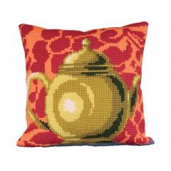 """Набор для вышивания Collection D'Art 5012 Подушка """"Luscious Green Tea Pot"""""""