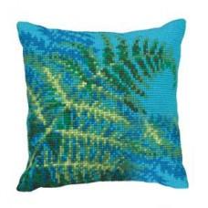 """Набор для вышивания Collection D'Art 5116 Подушка """"Ferns"""""""