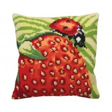 """Набор для вышивания Collection D'Art 5130 Подушка """"Delicious Strawberry"""""""