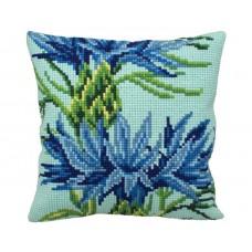 "Набор для вышивания Collection D'Art 5132 Подушка ""Modern Cornflower"""