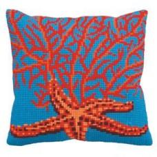 """Набор для вышивания Collection D'Art 5148 Подушка """"Red Starfish"""""""