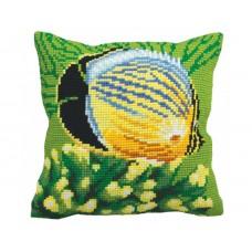 """Набор для вышивания Collection D'Art 5150 Подушка """"Tropical Fish"""""""