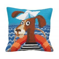 """Набор для вышивания Collection D'Art 5155 Подушка """"Sea Dog"""""""