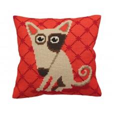 """Набор для вышивания Collection D'Art 5156 Подушка """"Comic Dog on Red"""""""