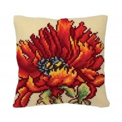 """Набор для вышивания Collection D'Art 5166 Подушка """"Flaming Red"""""""