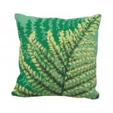"Набор для вышивания Collection D'Art 5171 Подушка ""Fern Leaf Green"""