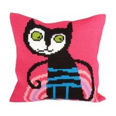"""Набор для вышивания Collection D'Art 5231 Подушка """"Escaped cat"""""""