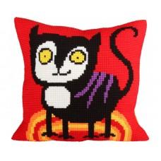"""Набор для вышивания Collection D'Art 5232 Подушка """"Escaped cat"""""""