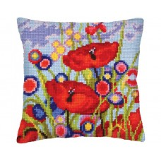 """Набор для вышивания Collection D'Art 5233 Подушка """"Red poppies"""""""