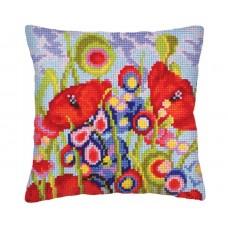 """Набор для вышивания Collection D'Art 5234 Подушка """"Red poppies"""""""