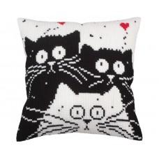 "Набор для вышивания Collection D'Art 5255 Подушка ""White cat"""
