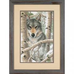 "Набор для вышивки Dimensions 03228 ""Зимний волк"""