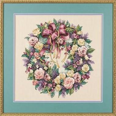 """Набор для вышивки Dimensions 03837 """"Венок из роз"""""""