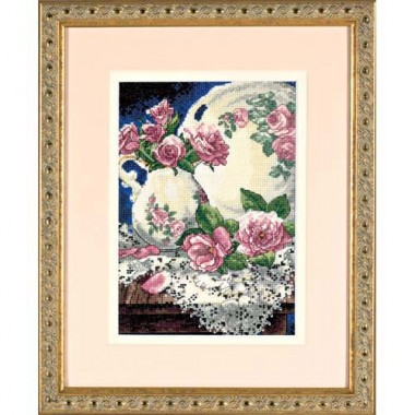 """Набор для вышивки Dimensions 06929 """"Розы и кружева"""""""