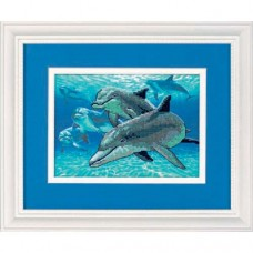 """Набор для вышивки Dimensions 06944 """"Глубоководные дельфины"""""""