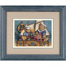 """Набор для вышивки крестом Dimensions 06994 """"Мишки, на палубу!"""""""