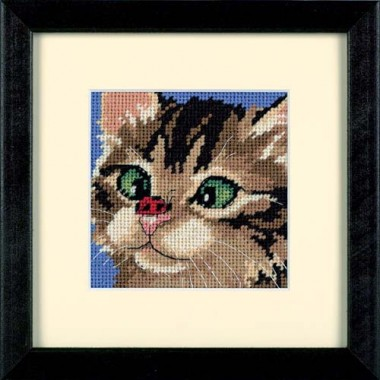"""Набор для вышивки Dimensions 07206 """"Косоглазый котенок"""""""