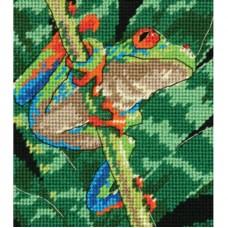 Набір для вишивання Dimensions 07234 Червоноока деревна жаба