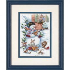 """Набор для вышивки Dimensions 08801 """"Снеговик и друзья"""""""