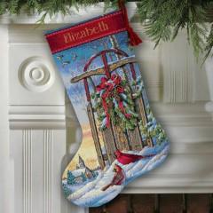 """Набор для вышивки Dimensions 08819 """"Рождественские санки"""""""