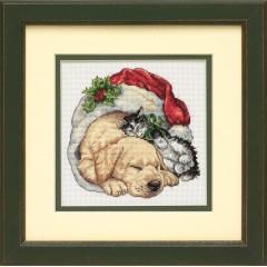 """Набор для вышивки Dimensions 08826 """"Рождественское утро домашних питомцев"""""""