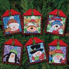"""Набор для вышивки Dimensions 70-08842 """"Рождественские украшения приятели"""""""