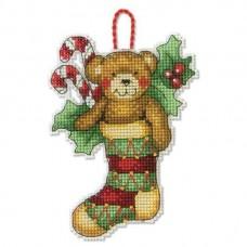 Набор для вышивки крестом Dimensions 70-08894 Медведь. Украшение