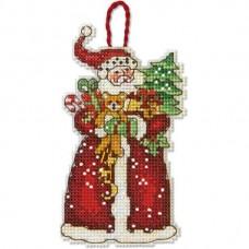 Набор для вышивки крестом Dimensions 70-08895 Санта. Украшение