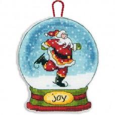 Набор для вышивки крестом Dimensions 70-08905 Снежный шар — Радость. Украшение