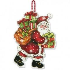 Набор для вышивки крестом Dimensions 70-08912 Санта с мешком. Украшение
