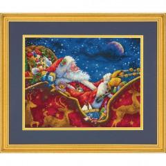 """Набор для вышивки Dimensions 70-08934 """"Ночная поездка Санты"""""""