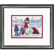 Набор для вышивки Dimensions 70-08993 Лепим снеговика