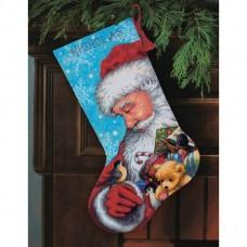 Набор для вышивки гобелен Dimensions 71-09145 Санта и игрушки. Чулок