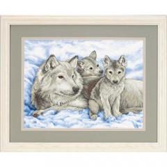 "Набор для вышивки Dimensions 13130 ""Волчица и волчата"""