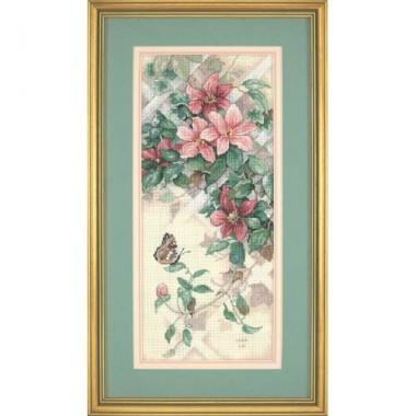 """Набор для вышивки Dimensions 13686 """"Бабочки и клематисы"""""""
