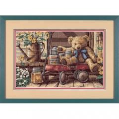 """Набор для вышивки крестом Dimensions 13693 """"Мишка с медом"""""""