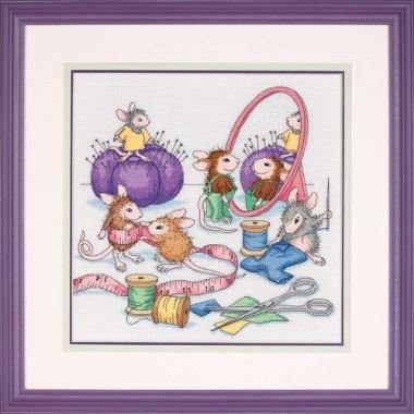 """Набор для вышивки Dimensions 13731 """"Швейные мышки"""""""