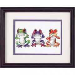 """Набор для вышивки крестом Dimensions 16758 """"Трио древесных лягушек"""""""
