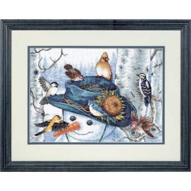 """Набор для вышивки Dimensions 35137 """"Снеговик и подсолнух"""""""