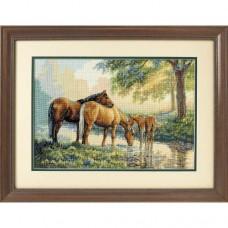 """Набор для вышивки крестом Dimensions 35174 """"Лошади у источника"""""""
