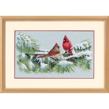 """Набор для вышивки Dimensions 35178 """"Зимние кардиналы"""""""