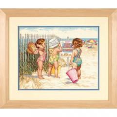 """Набір для вишивки Dimensions 35216 """"Діти на пляжі"""""""