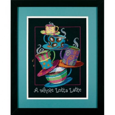 """Набор для вышивки Dimensions 35218 """"Полные кружки с кофе-латте"""""""