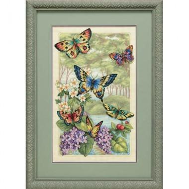 """Набор для вышивки крестом Dimensions 35223 """"Лес бабочек"""""""