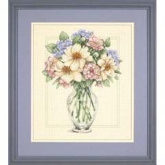 """Набор для вышивки крестом Dimensions 35228 """"Цветы в высокой вазе"""""""