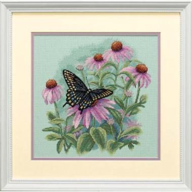 """Набор для вышивки Dimensions 35249 """"Бабочка и цветы"""""""
