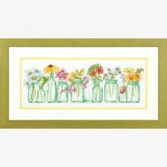 """Набор для вышивки Dimensions 70-35310 """"Цветы в банках"""""""